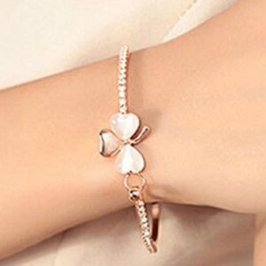 🆕 Rose Gold Shamrock Bangle